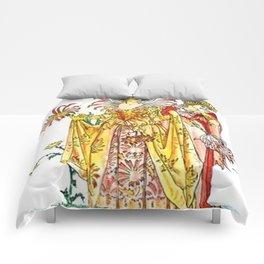Vintage Tiger-Lily Lady Goddess Comforters