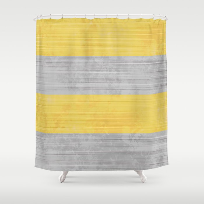 Brush Stroke Stripes Silver And Gold Shower Curtain