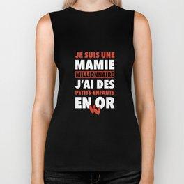 je suis une mamie millionnaire jai des petits enfants en or paris t-shirts Biker Tank