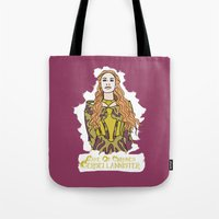 lannister Tote Bags featuring Cersei by JessicaJaneIllustration