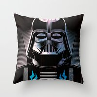 darth vader Throw Pillows featuring Darth Vader by cocoyponce