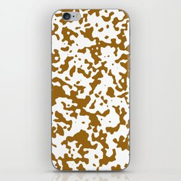 Spots - White and Golden Brown iPhone Skin