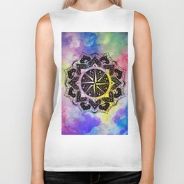 """""""Rose of the Winds""""  WATERCOLOR MANDALA (HAND PAINTED) BY ILSE QUEZADA Biker Tank"""