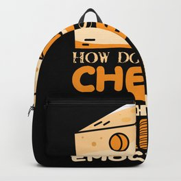 Funny cheese shirt Backpack