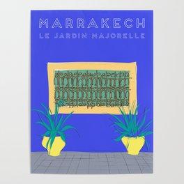 Le Jardin Majorelle, Marrakech (Marrakesh), Morocco Travel Poster Poster