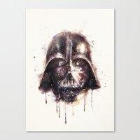 darth vader Canvas Prints featuring Darth Vader by beart24