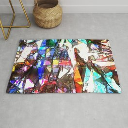 Light Streaming Through Stained Glass Rug