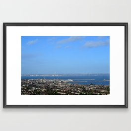 View of Dun Laoghaire and Dublin, Ireland Framed Art Print