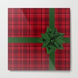 Red Christmas Gift wrap Metal Print