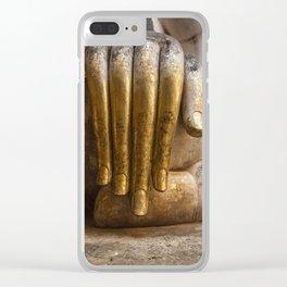 Golden Hand of a Buddha in Wat Sri Chum Thailand Clear iPhone Case
