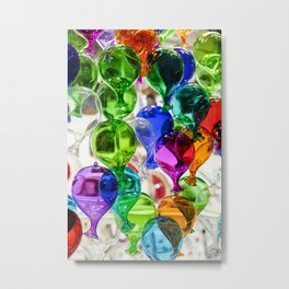 Colourful Glass Balloons | Venice Metal Print