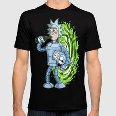 Rick and Morty. Bender's Secret II LARGE Black Mens Fitted Tee