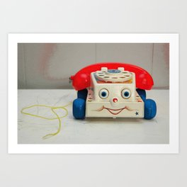 Fisher Price Telephone Art Print