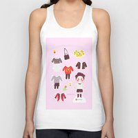shinee Tank Tops featuring Key Paper Doll by sophillustration