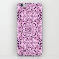 wallpaper iPhone & iPod Skins featuring Pink kaleidoscope wallpaper by David Zydd