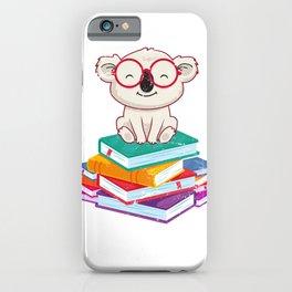 Reading Koala iPhone Case