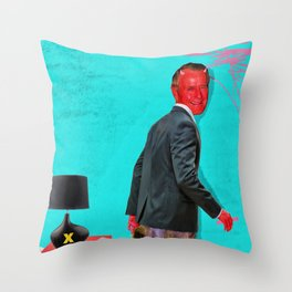Satan, That Scoundrel Throw Pillow