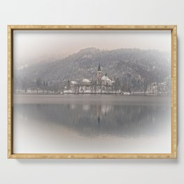 Wintry Bled Island Serving Tray