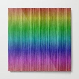 Tropical Rainbow Beach Hut Cladding Metal Print