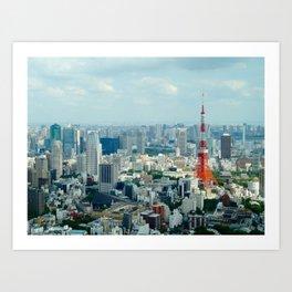 Daytime Tokyo Art Print