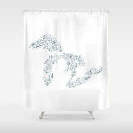 Great Lakes Up North Collage Shower Curtain