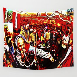 FREESTYLE CYPHER: ONE MIC Wall Tapestry