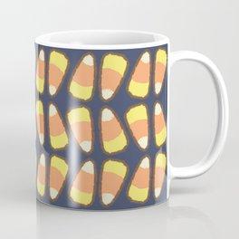 Candy Corn Tango in Navy Coffee Mug