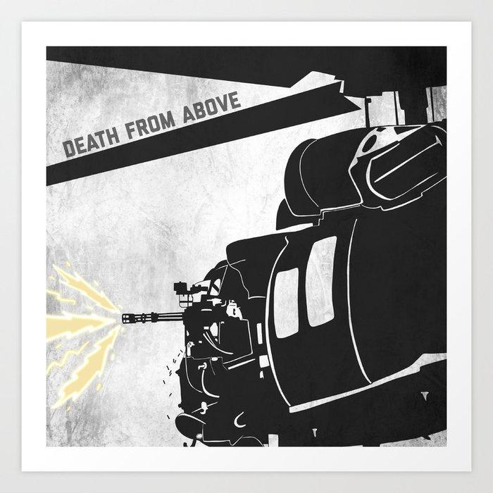 DeathFrom Above - Blackhawk Art Print