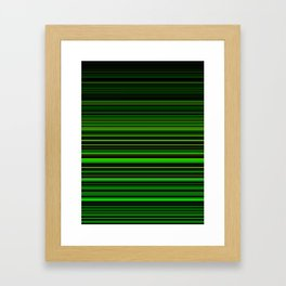 Just Green Stripes Framed Art Print