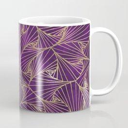 Tangles Violet and Gold Coffee Mug