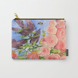 Cottage Garden Butterfly Bush Watercolor Illustration Carry-All Pouch