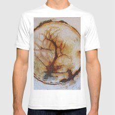 Tree of life in an old wash bowl White MEDIUM Mens Fitted Tee