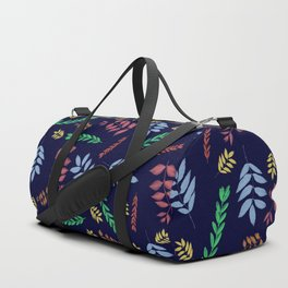 Art leaves in the night, nature print Duffle Bag