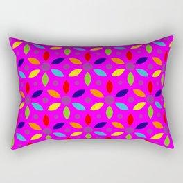flowery magenta sheild Rectangular Pillow