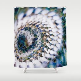 Desolating Spiral Shower Curtain