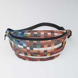 American Flag in Pixels Fanny Pack