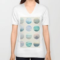 polka V-neck T-shirts featuring Ocean Polka dot  by Pure Nature Photos