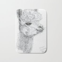 Inktober #19 2017 - Alpaca Bath Mat