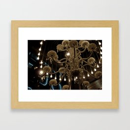 Lit Lamps Framed Art Print