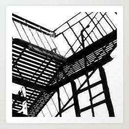 Escape in Black & White Art Print