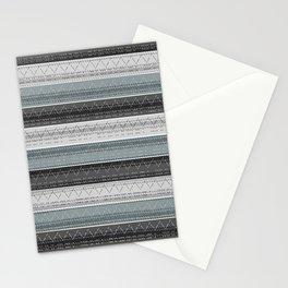 Morse Code Stripe Stationery Cards