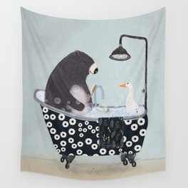 bath time Wall Tapestry
