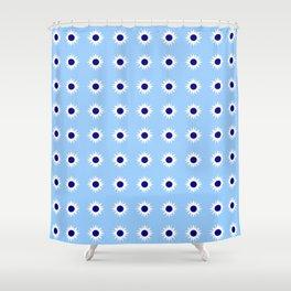 stars 48- Blue Shower Curtain