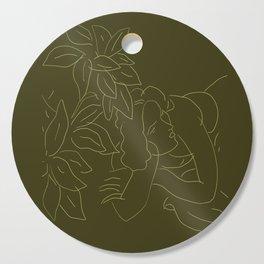 Matisse Line Art #5 Green Cutting Board