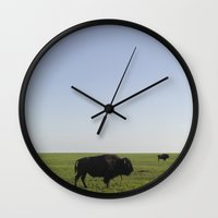 buffalo Wall Clocks featuring Buffalo by AlanW