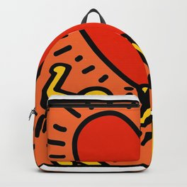 Heart Homage to Keith Haring Backpack