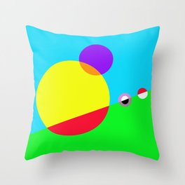 Circles #1 Abstract Modern Painting by Bruce Gray Throw Pillow