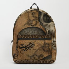 Awesome skulls with celtic knot Backpack