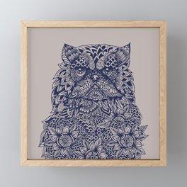 Mandala of Persian Cat Framed Mini Art Print