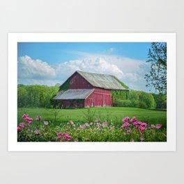 The Red Barn Art Print